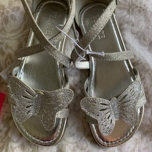 Girls Children's Place Sandals - Silver
